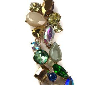 J. Crew Factory Jewelry - J Crew Blue Green Rhinestone Necklace NWT
